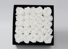 25 Valentines White Cream Infinity Preserved Roses