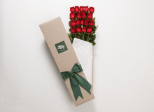 18 Red Roses Gift Box & Teddy Bear - Roses Only