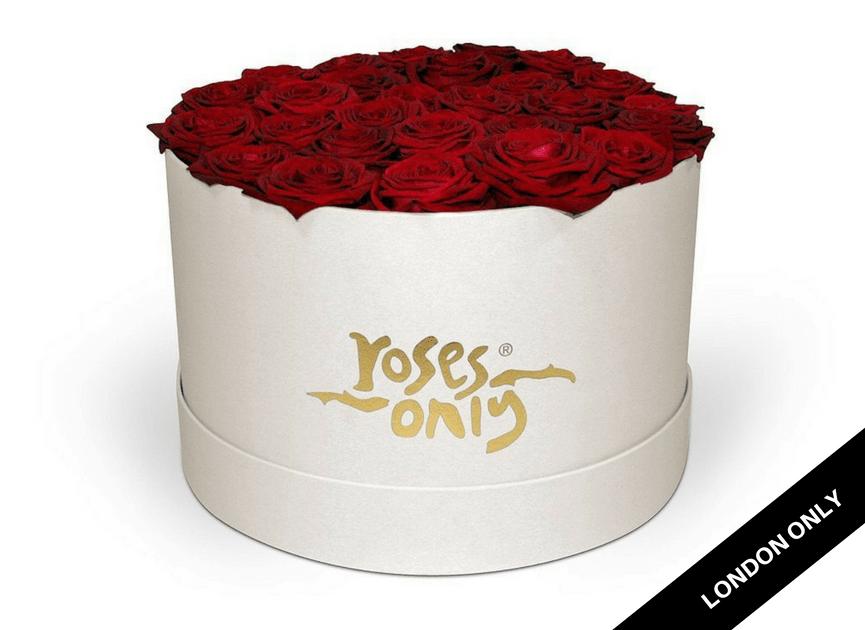 Red Rose Hat Box - Roses Only