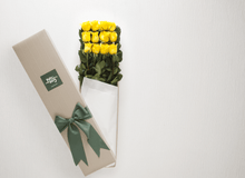 Mother's Day 12 Yellow Roses Gift Box