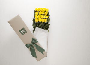 Mother's Day 18 Yellow Roses Gift Box