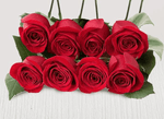Eight extra red stems - Roses Only