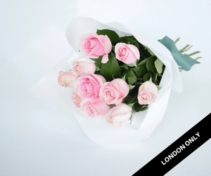 Pastel Pink Short Roses Signature Bouquet - Roses Only