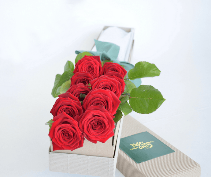 Red Short Roses Signature Box - Roses Only