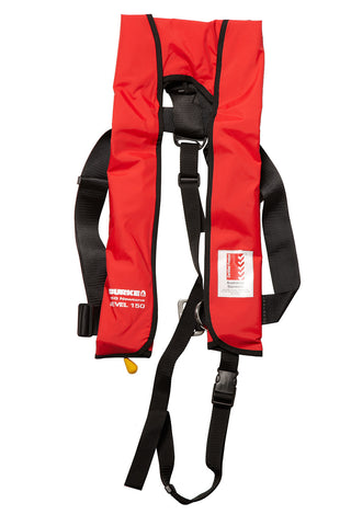Burke 150N Yachtsman Harness Manual Inflatable PFD