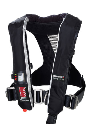 Burke 150N Race Automatic Inflatable PFD with Harness