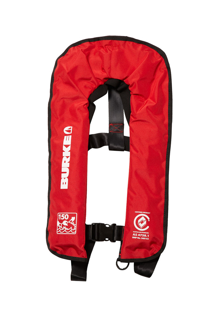 watersnake inflatable pfd level 150 manual