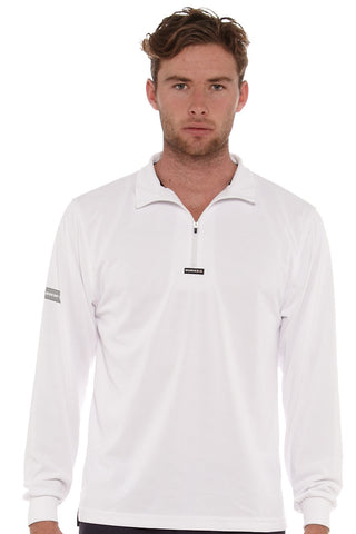 Burke Quick Dry Long Sleeve Zip Polo