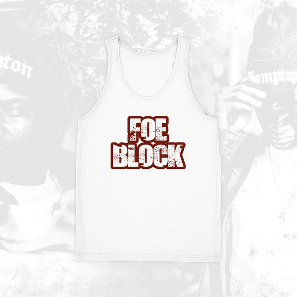 Foe Block White Tank