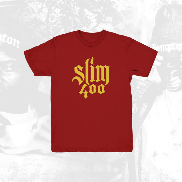 Slim 400 Logo Red Tee