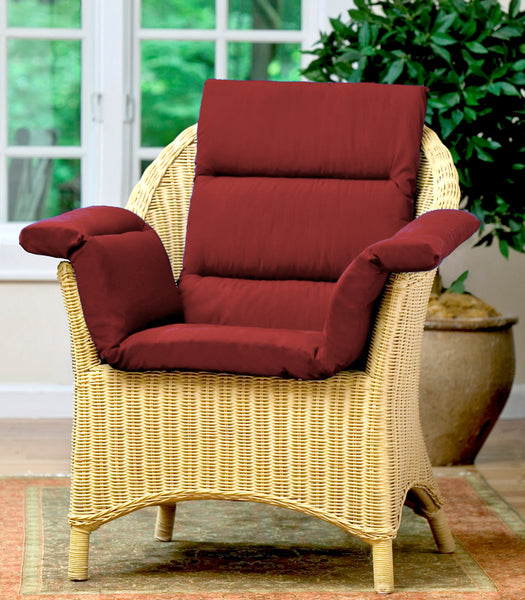 CareActive Total Chair Cushion Burgundy One Size (207-0-BUR)