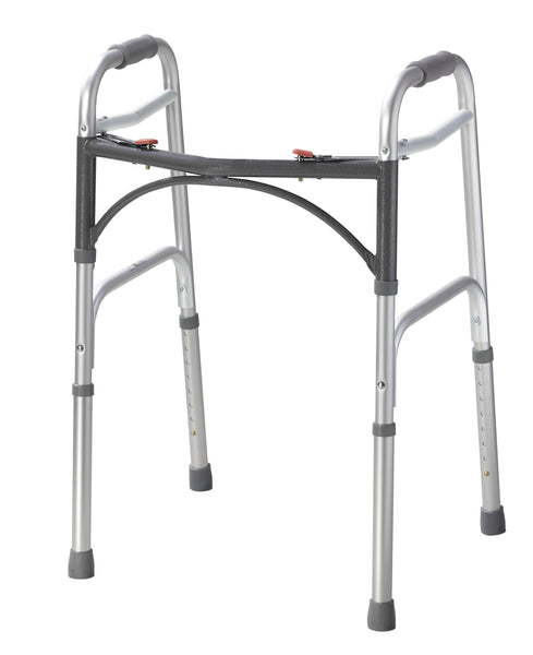 Deluxe Two Button Folding Walker (10200-1)