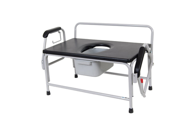 Bariatric Extra Wide Drop Arm Bedside Commode (11132-1) - Drive DeVilbiss Healthcare Shop Now at LifeSupply.com