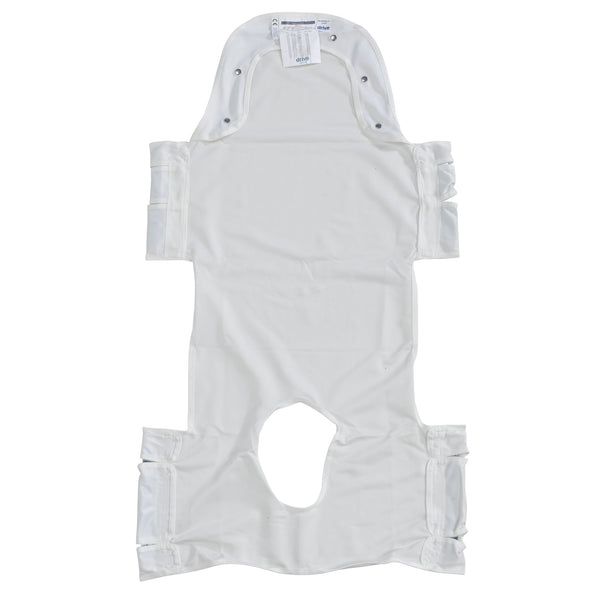 Patient Lift Sling with Head Support and Insert Pocket with Commode Opening (13231P)