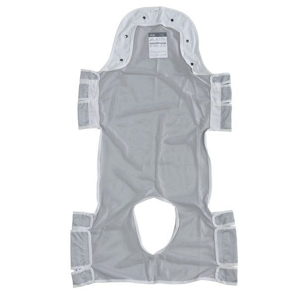 "Patient Lift Sling with Head Support and Commode Opening, 53"" x 30"" (13233D)"