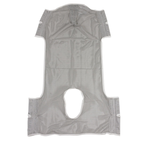 Patient Lift Commode Sling with Head Support, Dacron (13251D)