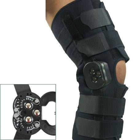 "Comfortland Hinged Knee Brace 16"" Exposed Hinge (CK-103)"