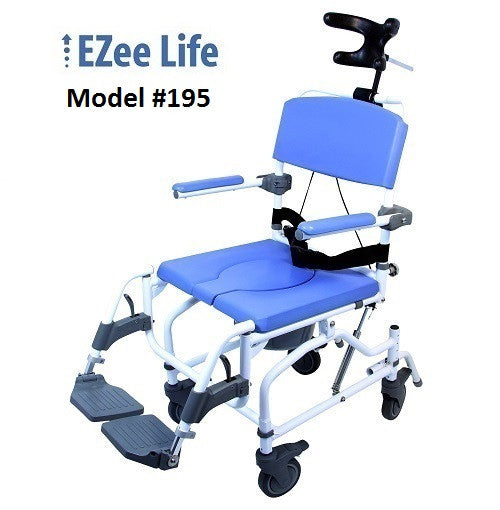 EZee Life 195 Aluminum Tilt Shower Commode Chairs 20""