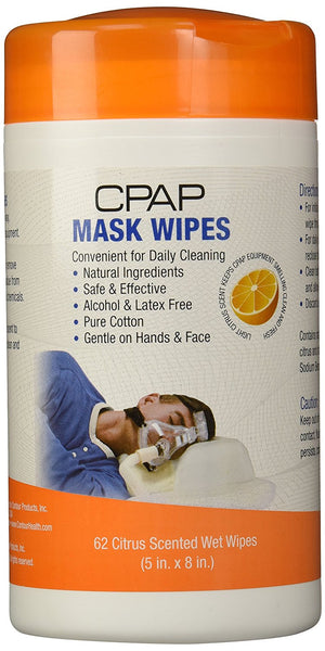 Contour CPAP Citrus Scented Mask Wipes (14-990R)