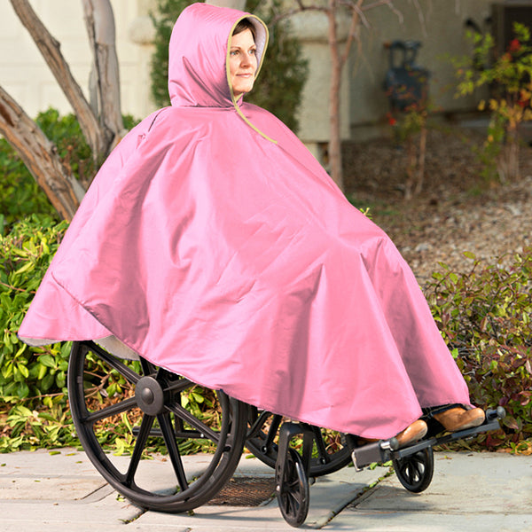CareActive Wheelchair Winter Poncho Pink One Size (9661-0-PNK)