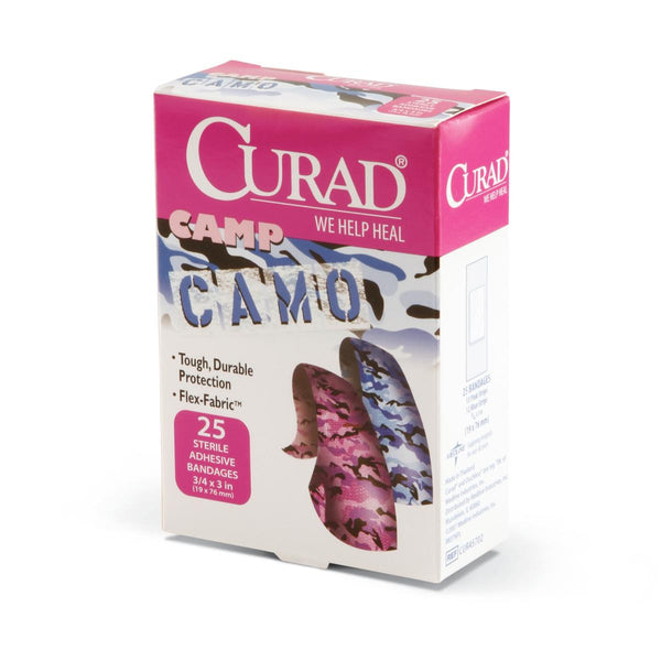 CURAD Camo Fabric Adhesive Bandages,No (24Box/Case) (CUR45702) - MEDLINE Shop Now at LifeSupply.com