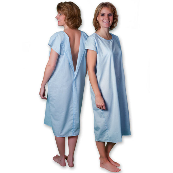 Core Products Patient Gown Blue 3/4 Open (S-M-L-XL) 6/Case (PRO-954)