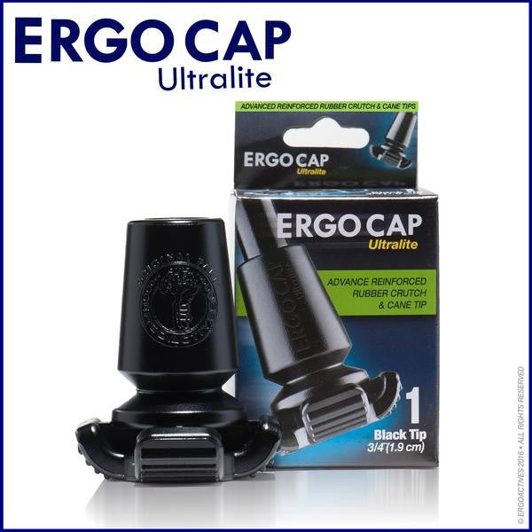 Cane Tips All Terrain- ErgoCap Ultralite Universal (Pack of 2 Cane Tips) (A018)