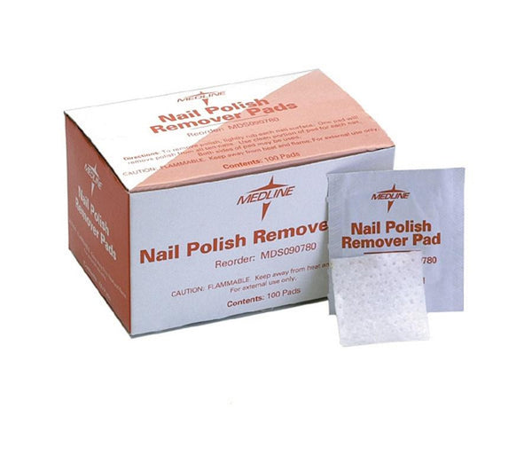 Nail Polish Remover Pads,Not Applicable (100/Box) (MDS090780)