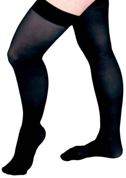 CURAD Thigh-High Compression Hosiery,Black,A (MDS1709AB)