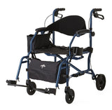 "Combination Rollator/Transport Chair,F: 6""  R: 7"" (MDS808200TR) - MEDLINE Shop Now at LifeSupply.com"