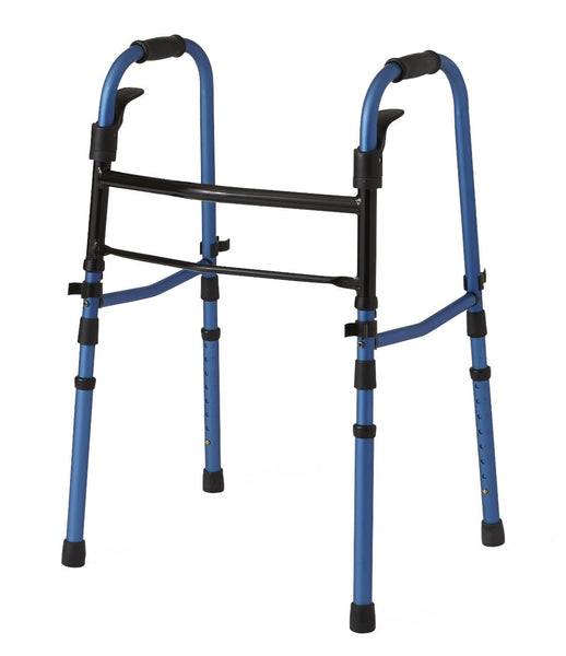 "Folding Paddle Walkers with 5"" Wheels,Blue,5"" (1/Case) (MDS86410KDBW)"