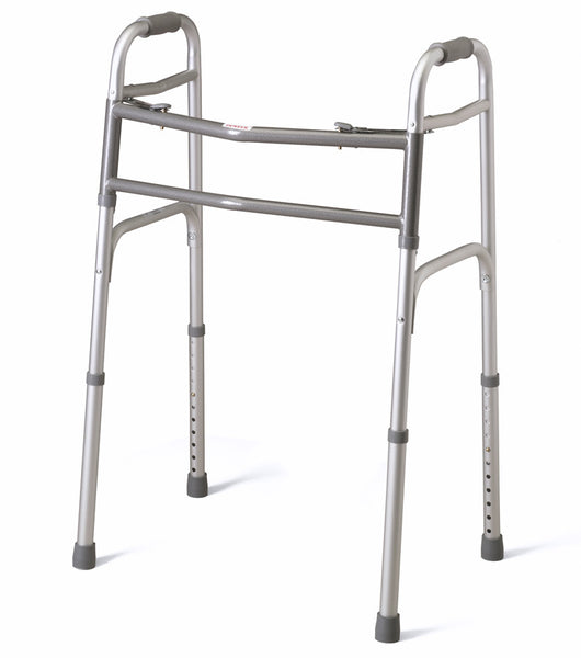 "Bariatric Two-Button Folding Walker,5"" (MDS86410XW) - MEDLINE Shop Now at LifeSupply.com"