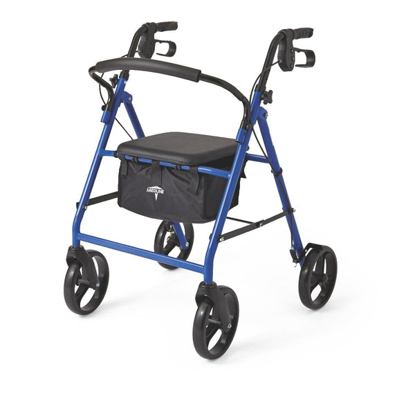 "Basic Steel Rollators,Blue,8"" (MDS86850EBS8) - MEDLINE Shop Now at LifeSupply.com"