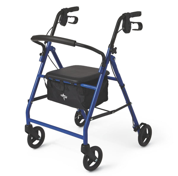 "Basic Steel Rollators,Blue,6"" (MDS86850EBS) - MEDLINE Shop Now at LifeSupply.com"
