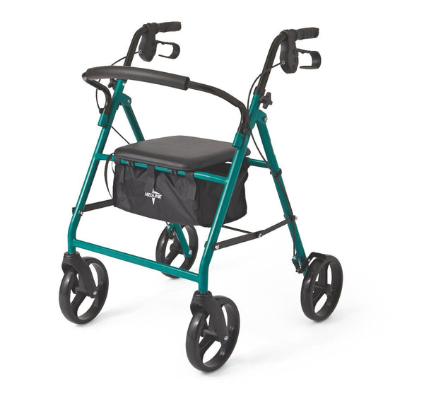 "Basic Steel Rollators,Green,8"" (MDS86850EGS8) - MEDLINE Shop Now at LifeSupply.com"