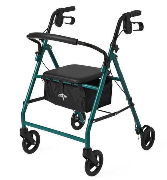 "Basic Steel Rollators,Green,6"" (MDS86850EGS) - MEDLINE Shop Now at LifeSupply.com"