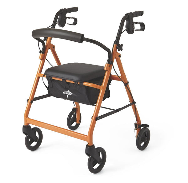 "Basic Rollators,Orange,6"" (MDS86850EO) - MEDLINE Shop Now at LifeSupply.com"
