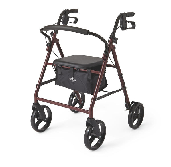 "Basic Steel Rollators,Red,8"" (MDS86850ES8) - MEDLINE Shop Now at LifeSupply.com"