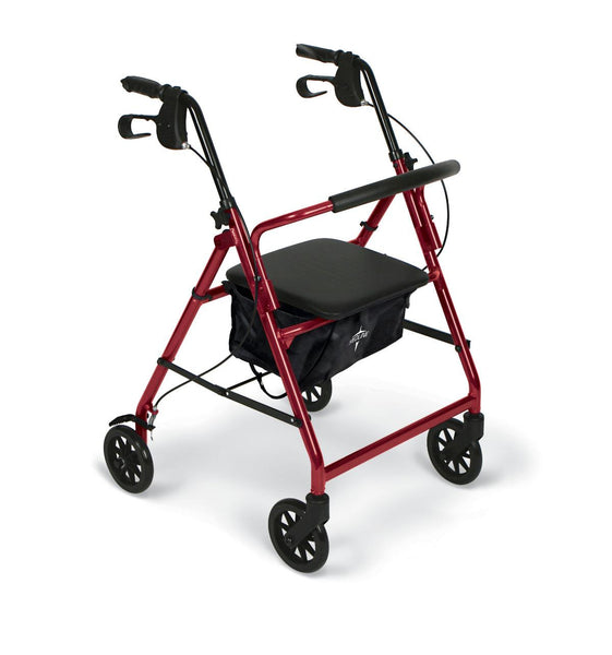 "Basic Steel Rollators,Red,6"" (MDS86850ES) - MEDLINE Shop Now at LifeSupply.com"