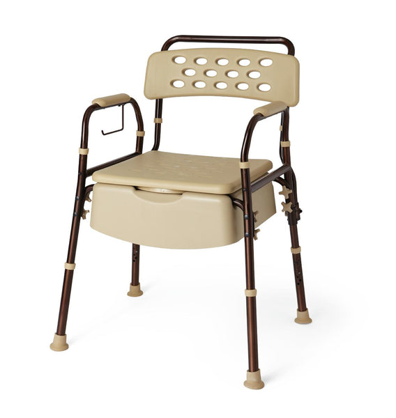 Bedside Commode with Microban (1/Case) (MDS89664ELMB) - MEDLINE Shop Now at LifeSupply.com