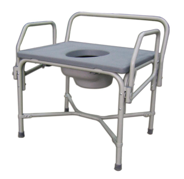 Bariatric Drop-Arm Commode (1/Case) (MDS89668XW) - MEDLINE Shop Now at LifeSupply.com