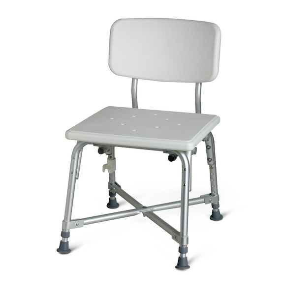 Bariatric Aluminum Bath Bench with Back (1/Case) (MDS89745AXW) - MEDLINE Shop Now at LifeSupply.com