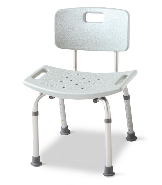 Aluminum Bath Benches with Back (1Case/Case) (MDS89745A) - MEDLINE Shop Now at LifeSupply.com