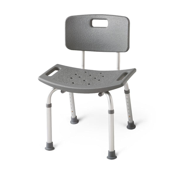 Aluminum Bath Benches with Back,White (MDS89745R) - MEDLINE Shop Now at LifeSupply.com