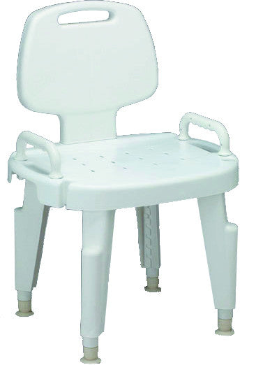 Composite Bath Benches with Back (MDS89755R) - MEDLINE Shop Now at LifeSupply.com