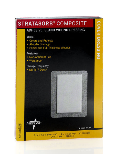 "Stratasorb Composite Dressings,4""X6"" (10/Box) (MSC3068)"