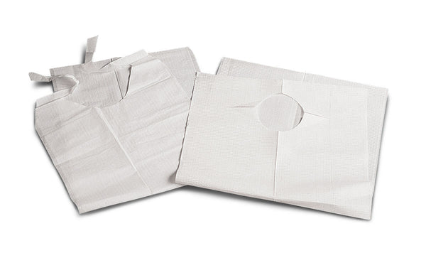 Disposable Slip-On Adult Bibs,White (150/Case) (NON24265)