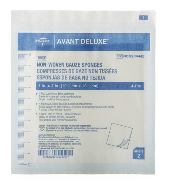Avant Deluxe Sterile Gauze Sponges (1200/Case) (NON264442) - MEDLINE Shop Now at LifeSupply.com