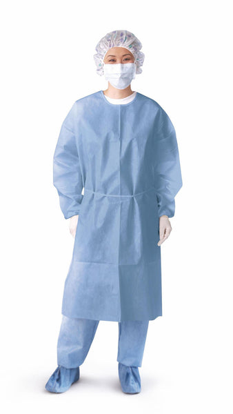 Closed Back Coated Polypropylene Isolation Gowns,Blue,X-Large (50/Case) (NON27114XL) - MEDLINE Shop Now at LifeSupply.com