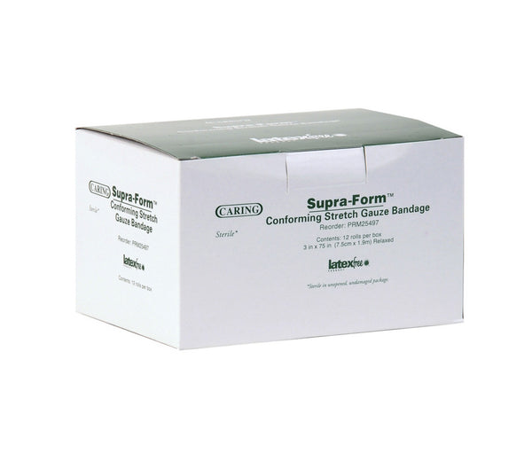 Caring Supra Form Sterile Conforming Bandages (12/Box) (PRM25497) - MEDLINE Shop Now at LifeSupply.com